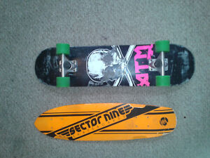 Sector 9 Cruiser complete and ATM popsicle stick deck