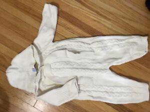 Beba bean knit ivory outfit