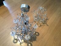 5 light chandelier and chandelier-style lampshade