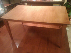 table and hutch maple wood