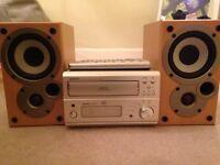 DENON CD RECEIVER UD-M50 3 CD CHANGER / MISSION M50 SPEAKERS / ORIGINAL REMOTE
