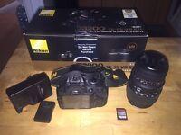 Nikon d3200 DSLR + Sigma 70-300mm lens