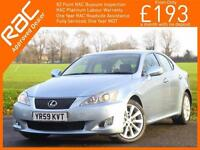 2009 Lexus IS IS250 2.5 SE-L 6 Speed Auto Bluetooth Full Leather Heated Cooled S