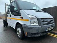 2014 Ford Transit T350 + CREW CAB + TWIN CAB + DROP SIDE + ONLY 50K