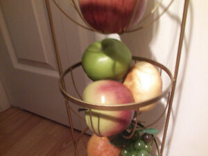 fruits and stand