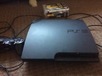 PS3 with 4 games and one controller without hdmi or av cable