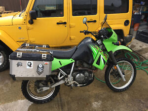 KLR 650 (including saddle bags and racks valued at over $1000)