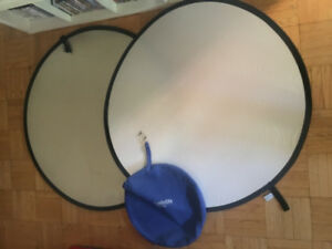 "(2) Lastolite Collapsable Bounce Reflectors — 48"" — 120cm"