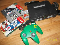 Nintendo 64 with 1 controller and games