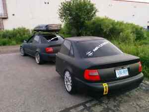 Half car trailer Audi A4 B5 with coilovers Kitchener / Waterloo Kitchener Area image 6