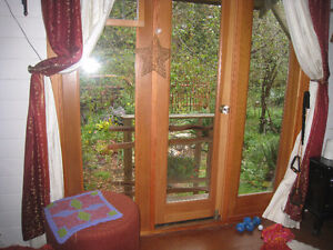 short term rental in character house on Quadra Island.