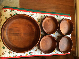 Vintage BARIBOCRAFT Salad Bowl Set - Dark & Rich Tones