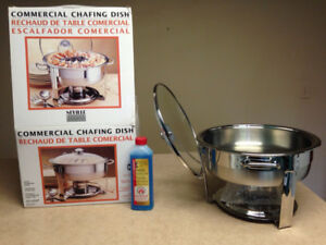 4qt chafing dish and 16oz bottle gelled fuel, All brand new. $40