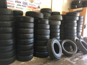Good quality used tires with 60% to 90%