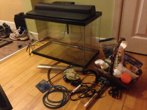 (Pending sale)Fish Tank and a bunch of gear