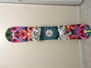 Roxy Snowboard + Bindings