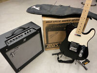 Fender Squier Telecaster and Mustang 2 amp