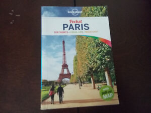 LONELY PLANET Pocket Travel book PARIS FRANCE w map
