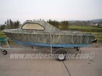 Shetland 460 boat on galvanished trailer.