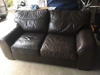 3 Piece leather suite, free to good home