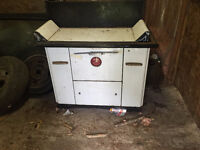 "Vintage ""Fawcet"" combo Wood/Oil Stove"