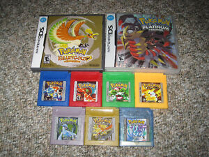 Pokemon Games for Nintendo Game Boy and DS