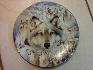 Limited Edition Wolf Collectors Plates by Diana Casey/Lee Cable
