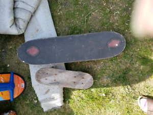 Skateboards and snow board