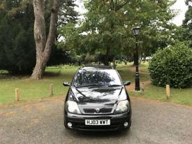 2003 Renault Scenic 1.6 16v Fidji 5 Door MPV Black(FINANCE AVAILABLE)