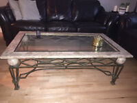Marble + Glass Coffee Table