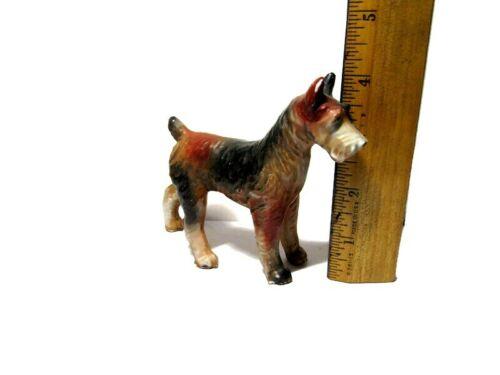 "Irish Terrier Dog Figurine Made in Japan Mid Century 4"" tall 1960"