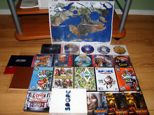 Games - Bundle of 16 PC Games + Guide Books and Map