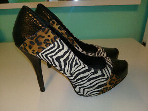 Animal Print High Heel Shoes