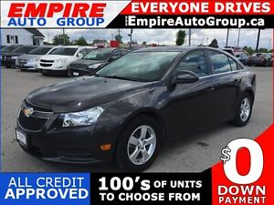 2014 CHEVROLET CRUZE 2LT * LEATHER * REAR CAM * SUNROOF * BLUETO