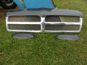 94 to 02 Dodge Full Size Truck Chrome Grill with Wind Deflector