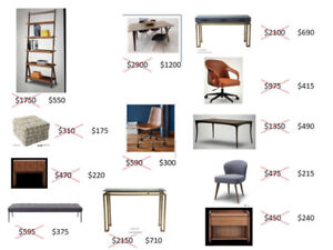 Furniture final sale - warehouse move