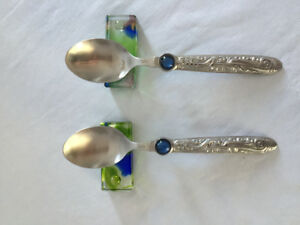 Liuligongfang crystal Ensemble de Cuillère / Set of 2 Spoons