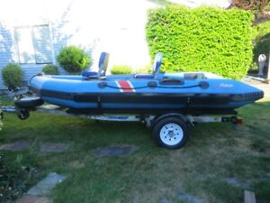 Inflatable Boat & Trailer - $2300 OBO
