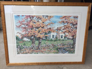"""Laura Berry limited print """"COUNTRY COTTAGE"""" #139 of 750"""