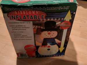 8 foot inflatable snowman