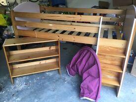 Kids mid-sleeper cabin bed