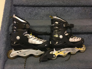 Rollerblades and ice skates