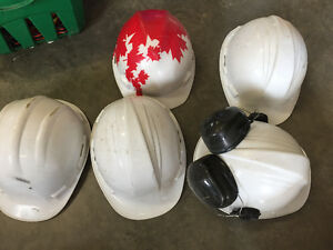 Hard hats and safety vests