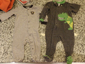 Carters Pjs, outfits, lots of pieces