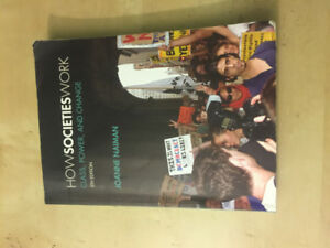 SOC103 HOW SOCIETY WORKS 5th EDITION TEXTBOOK RYERSON