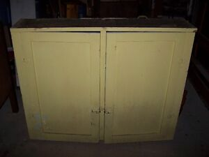ANTIQUE TWO-DOOR CUPBOARD.SOLD AS FOUND.COMPACT.