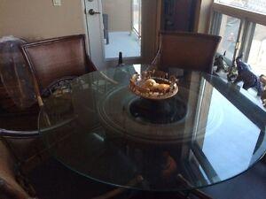 Beautiful rattan dining room table