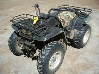 4 wheeler with plow.