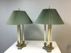 Antique-looking Teal-coloured Lamps
