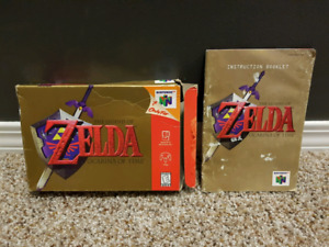 Zelda N64 Orcarina of Time - Manual and Box Only